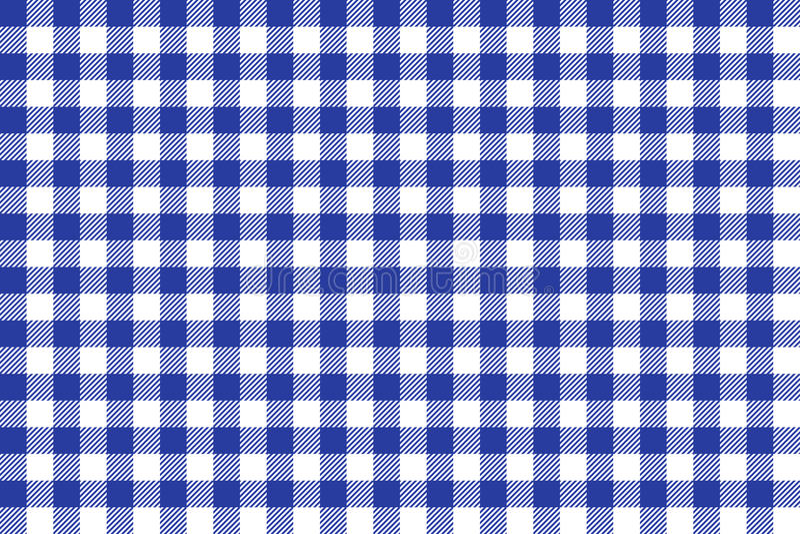 蓝色方形桌布纹理墙纸白色 库存例证
