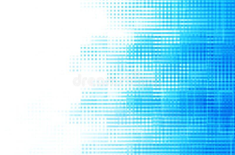 蓝色方形的抽象背景 免版税库存图片