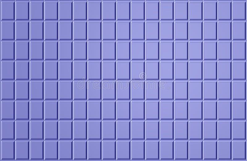 蓝色方形的镶嵌构造 皇族释放例证