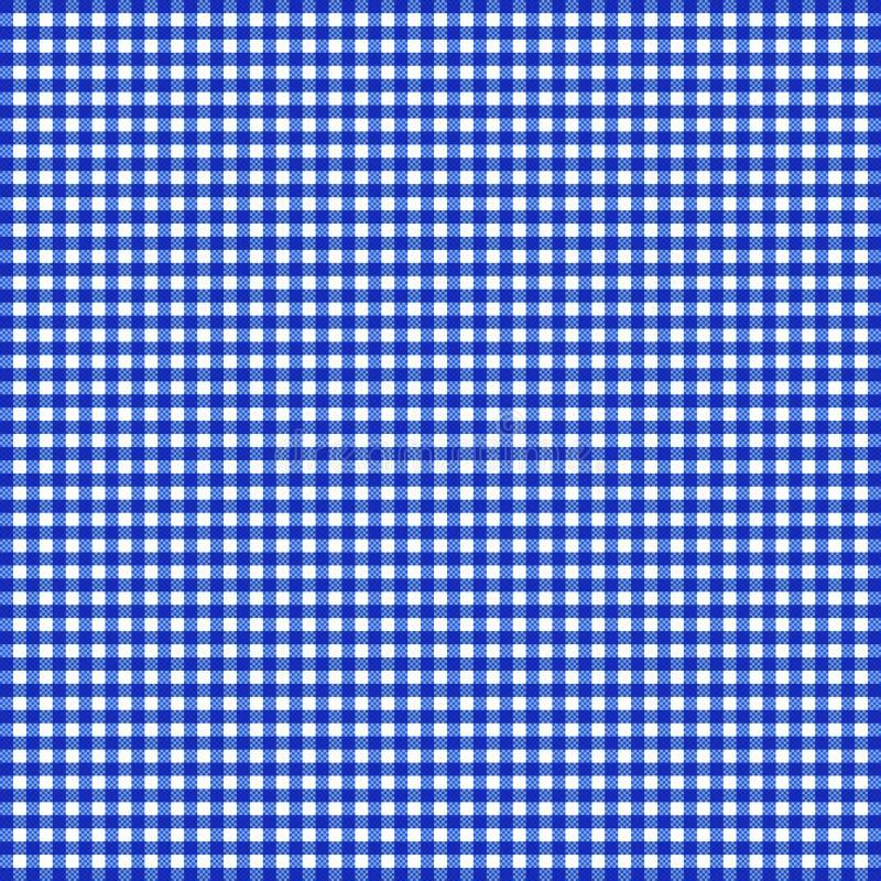 蓝色方格花布