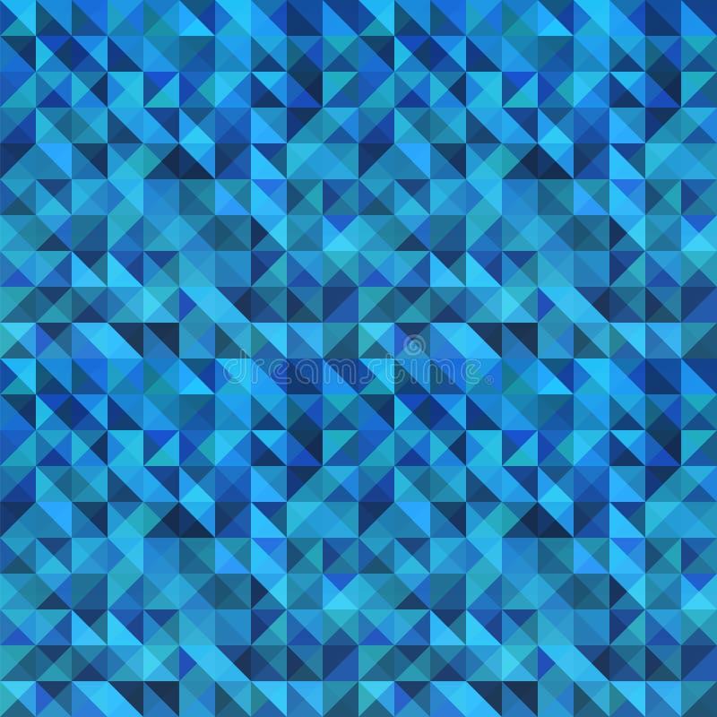 蓝色无缝的三角摘要样式。 皇族释放例证