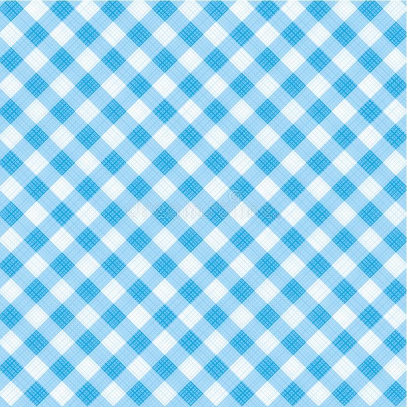 蓝色无缝织品方格花布包括的模式 向量例证