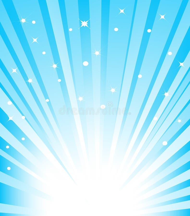蓝色旭日形首饰 向量例证