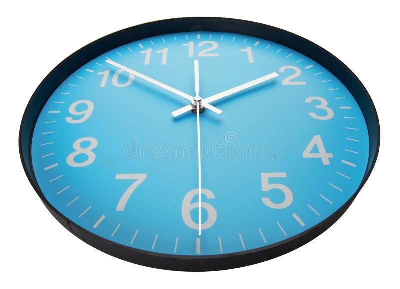 蓝色时钟表盘 库存图片