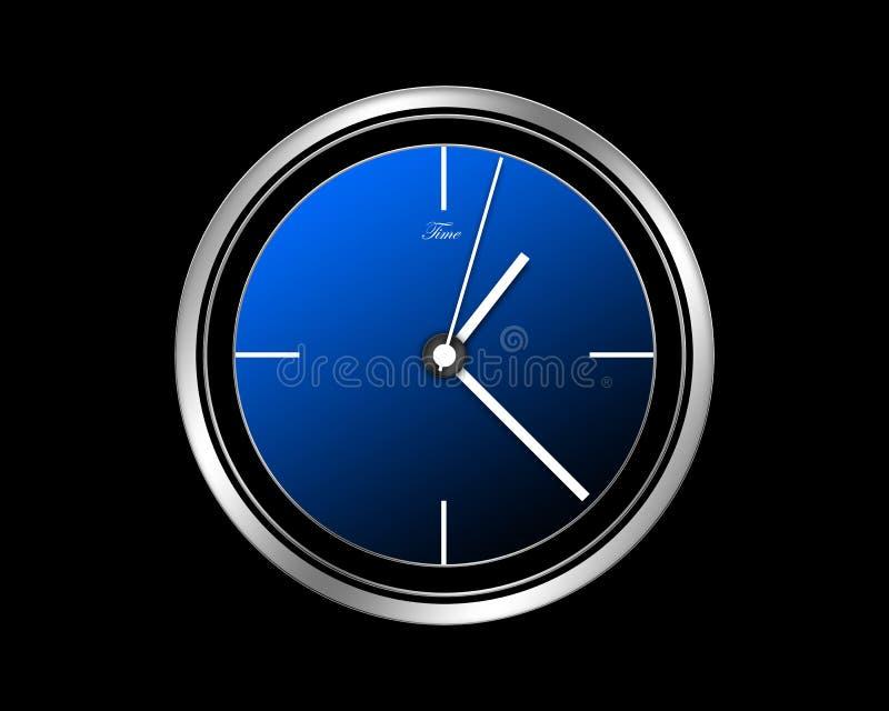 蓝色时钟 向量例证