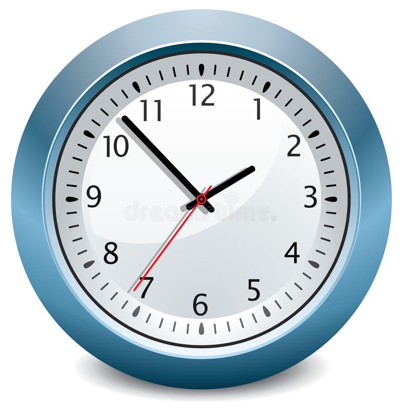 蓝色时钟 库存例证