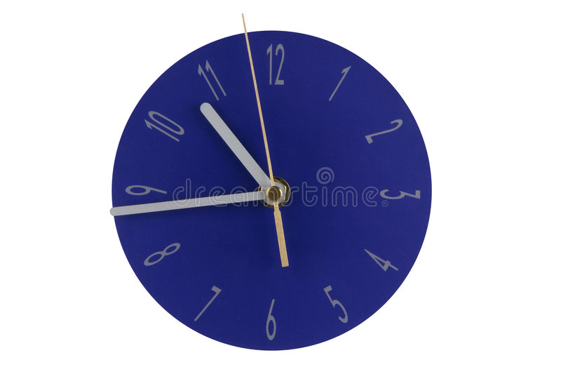 蓝色时钟 免版税图库摄影