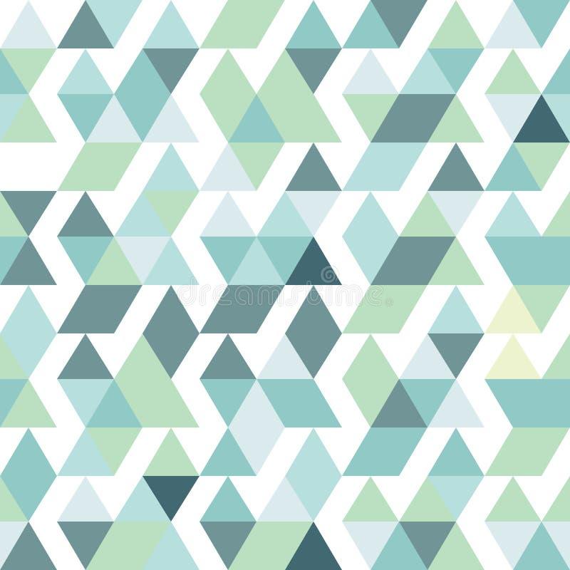 蓝色明亮的抽象三角背景 向量例证