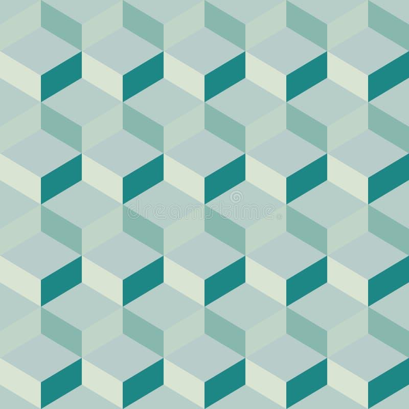 蓝色明亮的抽象几何背景 向量例证