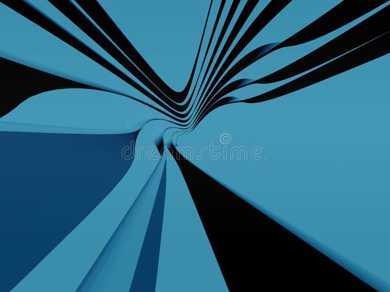 蓝色曲线主街上 库存例证