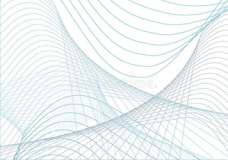 蓝色曲线 库存例证