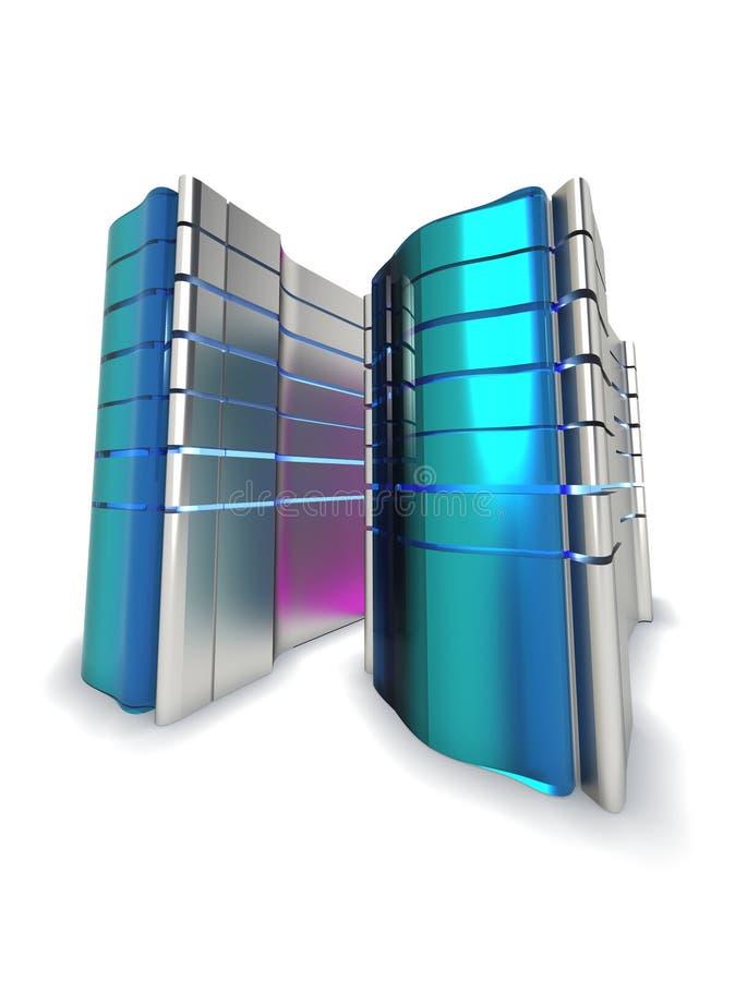 蓝色服务器万维网 向量例证