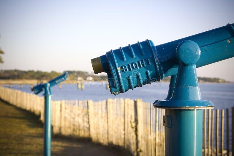 蓝色望远镜 图库摄影