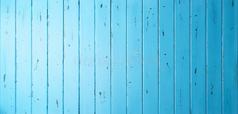 蓝色木横幅背景 图库摄影