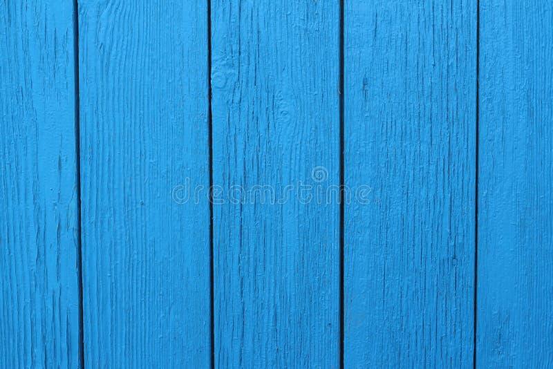 蓝色木被绘的背景垂直的木头 免版税图库摄影