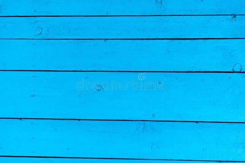 蓝色木头构造背景 库存图片