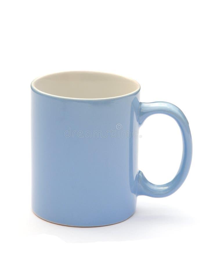 蓝色杯子 免版税库存图片