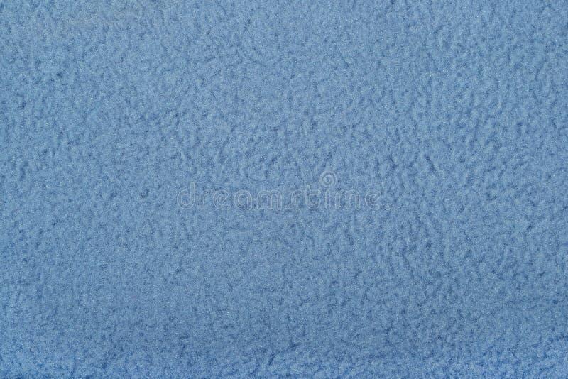 蓝色极性羊毛背景纹理 免版税图库摄影