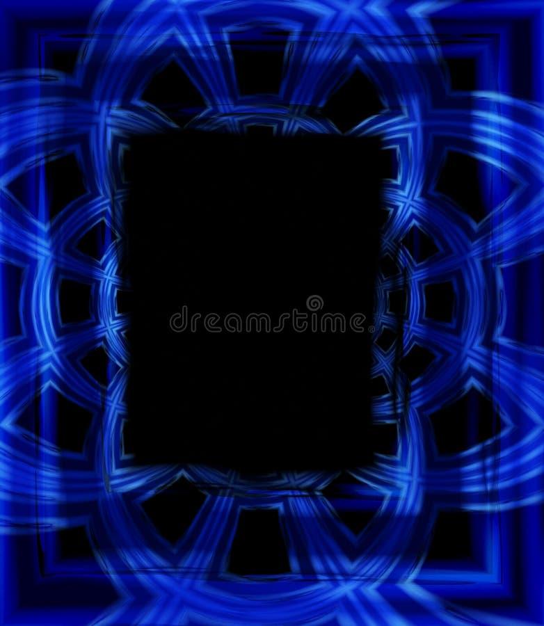 蓝色构成照片照片 向量例证