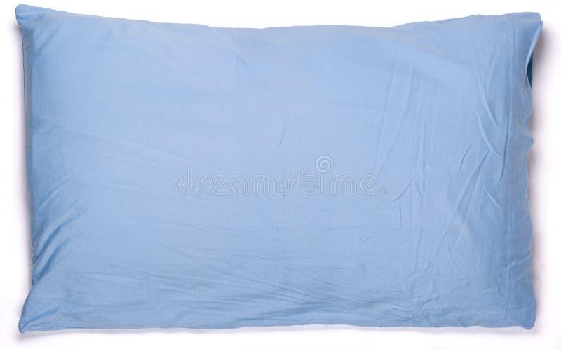 蓝色枕头 免版税库存图片