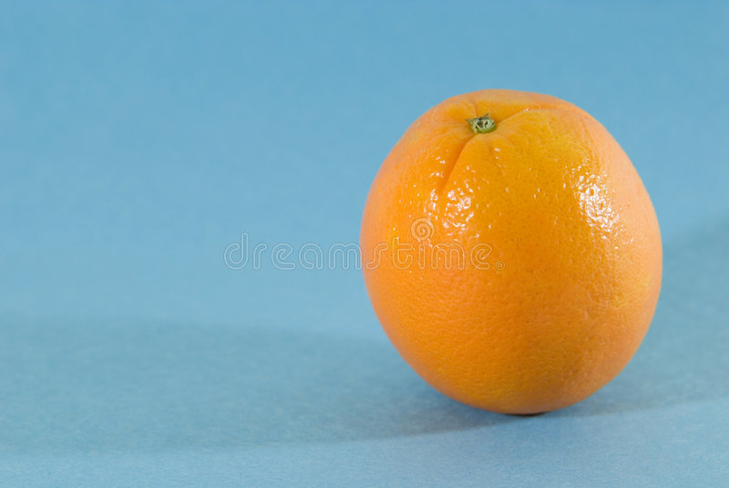 蓝色果子桔子 图库摄影