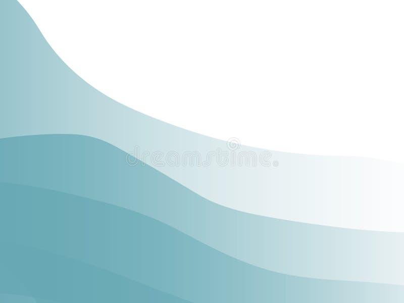 蓝色柄模式 向量例证