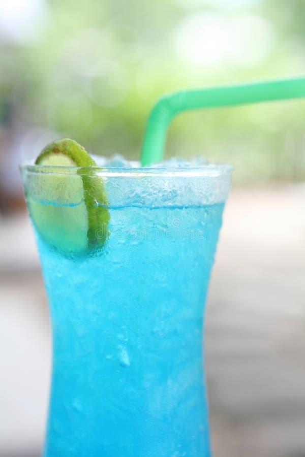 蓝色柠檬苏打 免版税库存照片