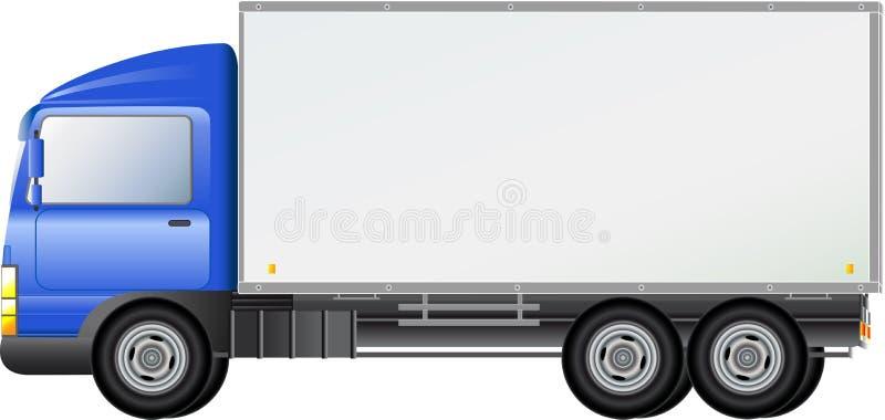 蓝色查出的发运的卡车 向量例证