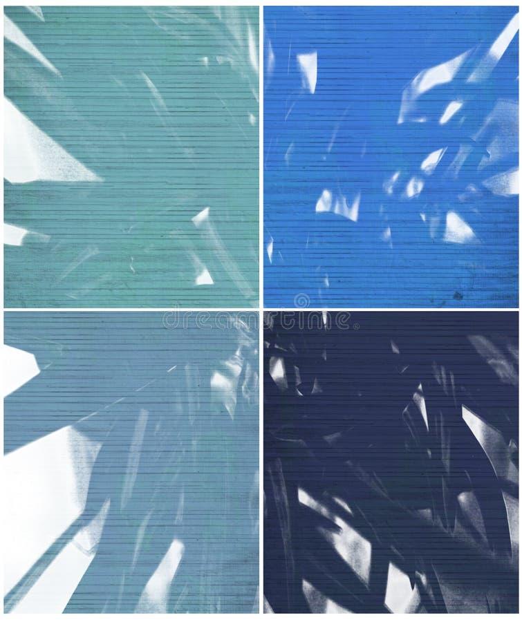 蓝色查出的油漆肋骨纹理 库存例证
