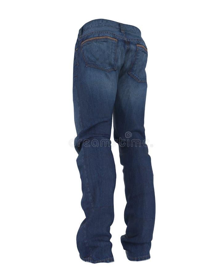 蓝色查出的牛仔裤 皇族释放例证