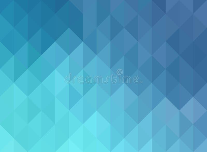 蓝色栅格马赛克背景,创造性的设计模板 皇族释放例证