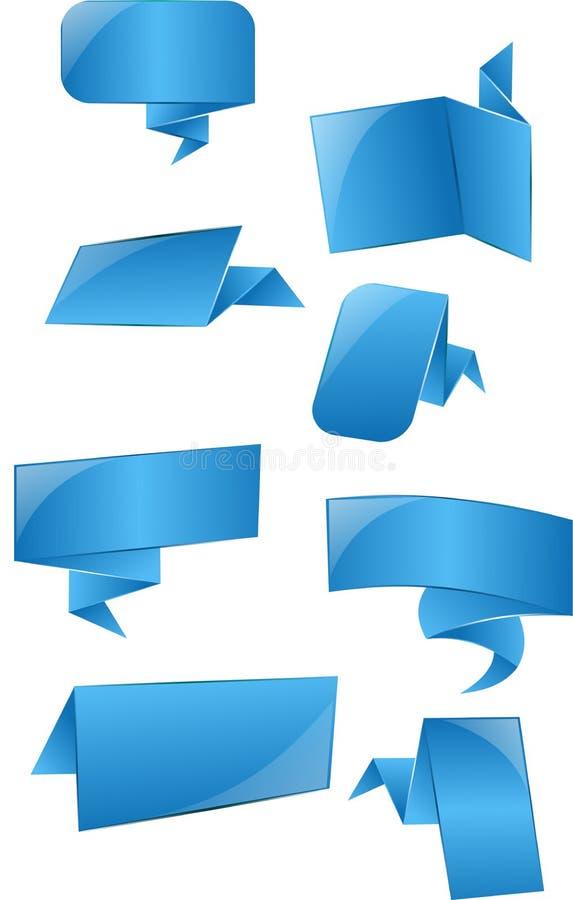 蓝色标签,标记 免版税库存照片