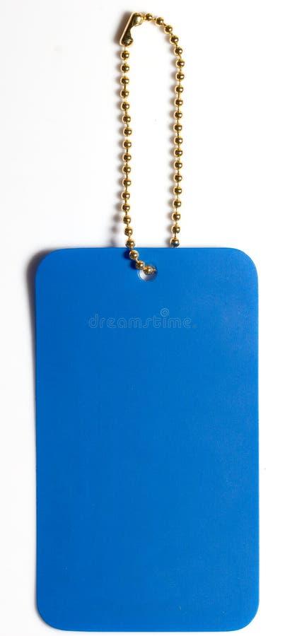 蓝色标记标签 库存照片