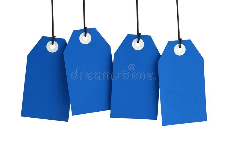 蓝色标记 免版税库存图片