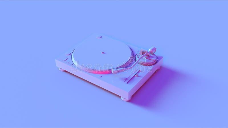 蓝色桃红色转盘电唱机 免版税库存照片