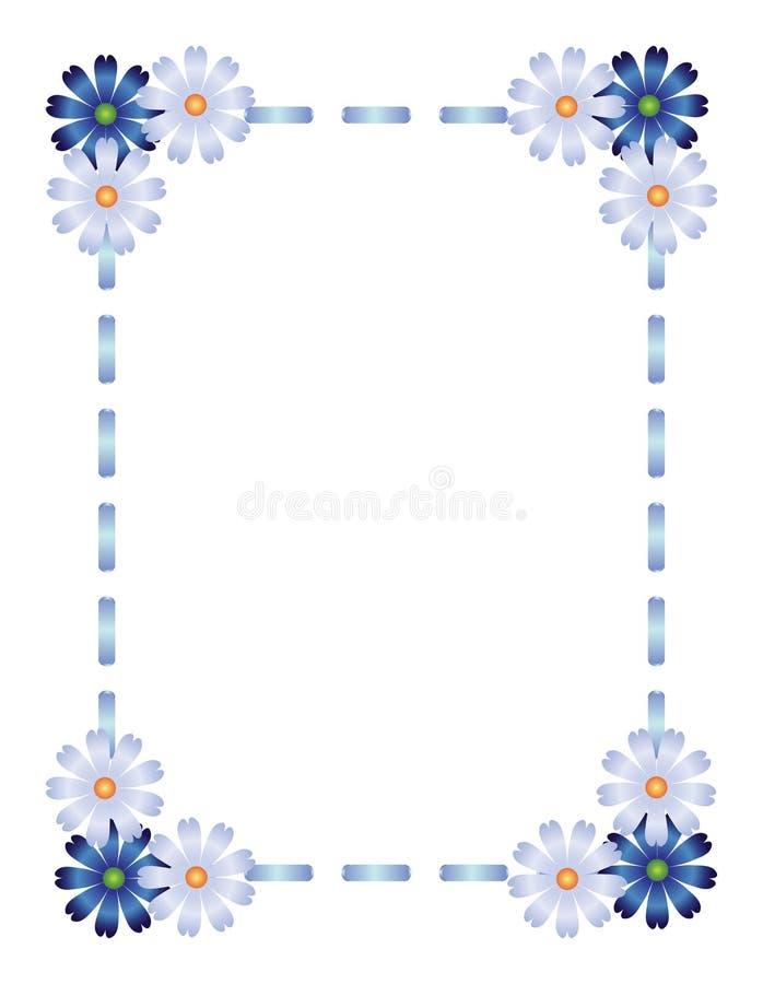 蓝色框架丝带 库存例证