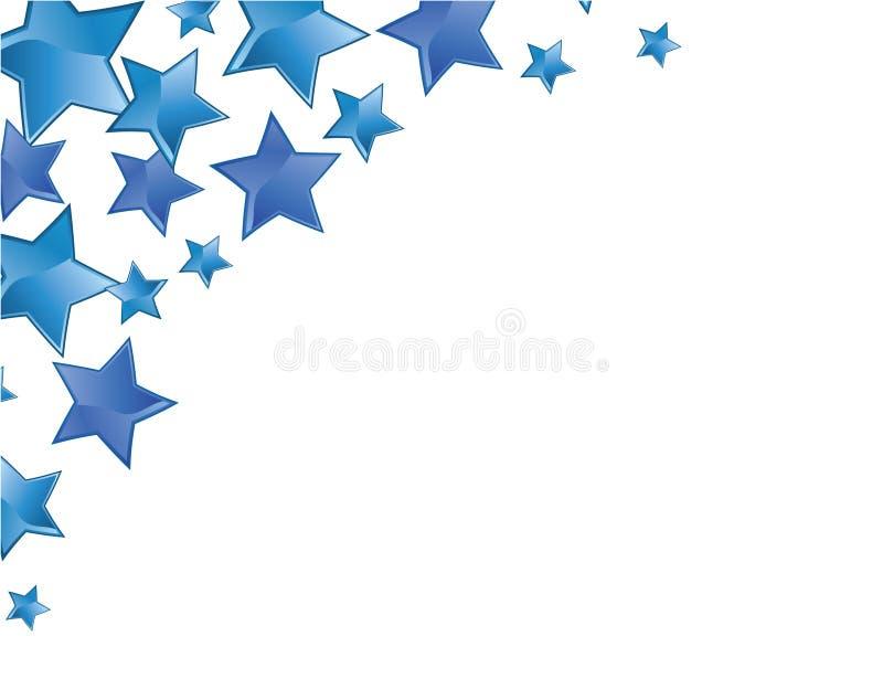 蓝色框架星形 皇族释放例证