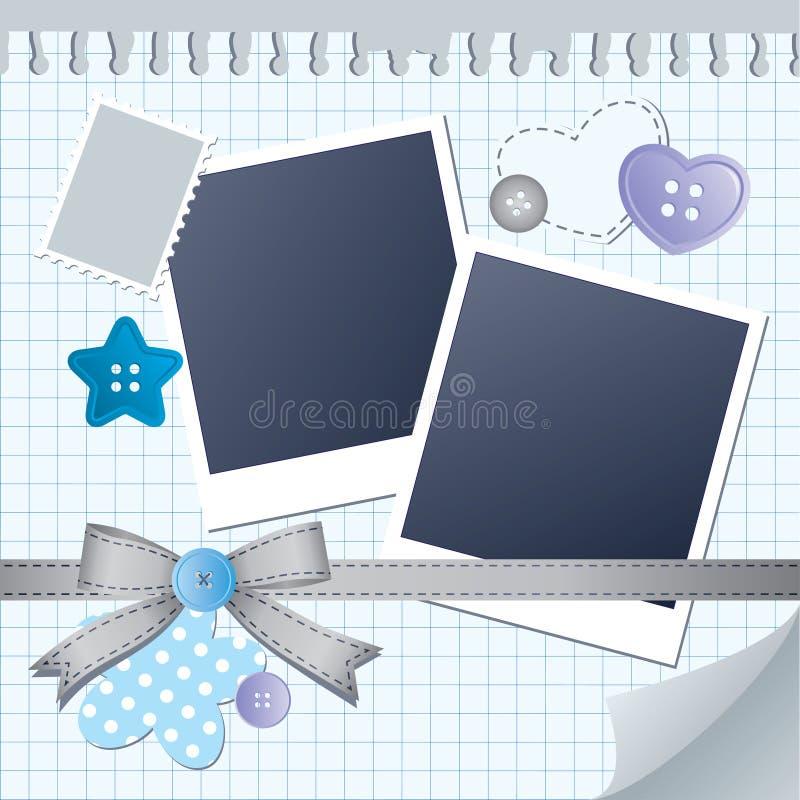 蓝色框架照片 库存例证