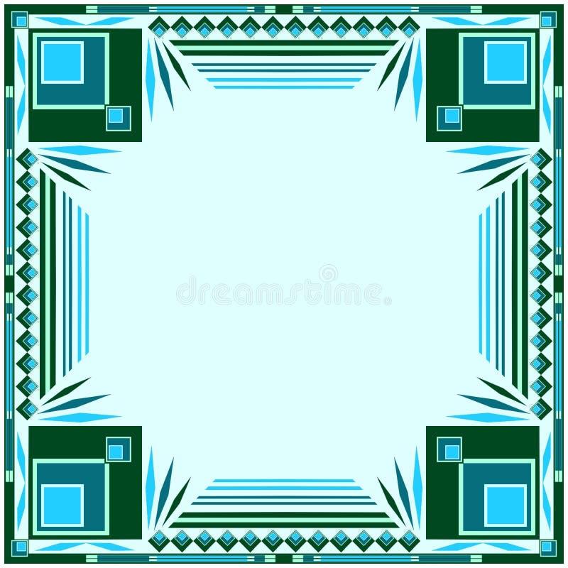 蓝色框架绿色 皇族释放例证