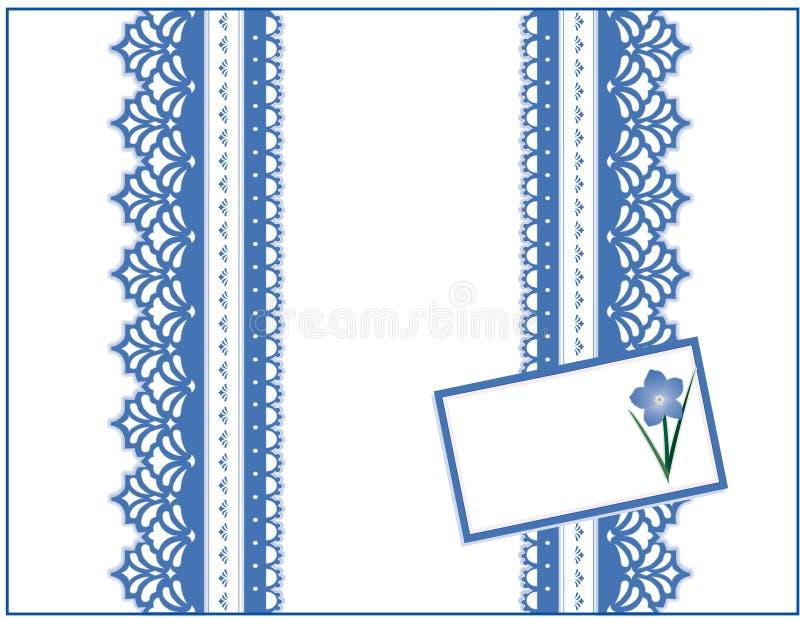 蓝色框看板卡忘记礼品系带我没有 库存例证