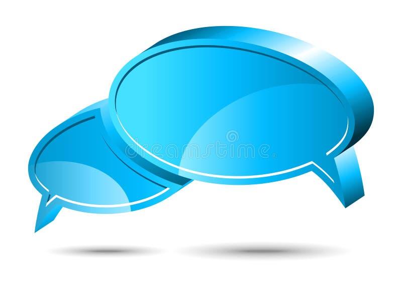 蓝色框聊天 向量例证