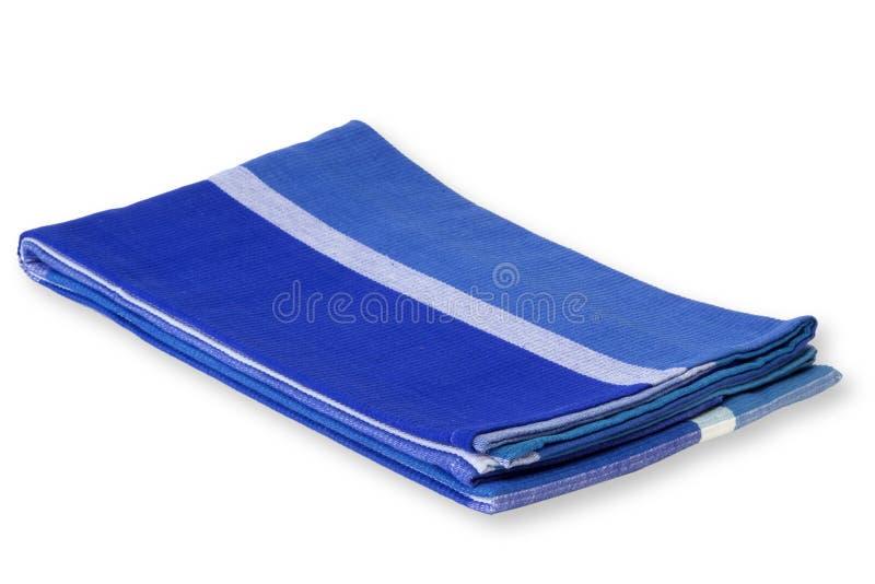 蓝色桌布 图库摄影