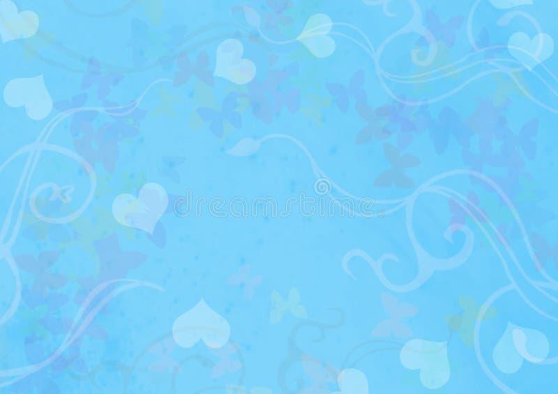 蓝色桌面墙纸 皇族释放例证