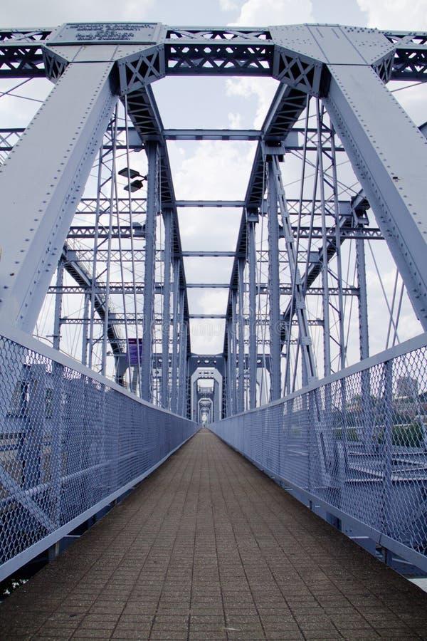 蓝色桥梁不尽的路  免版税库存照片
