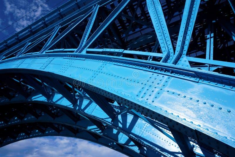 蓝色桥梁特写镜头在马里博尔,斯洛文尼亚 免版税图库摄影