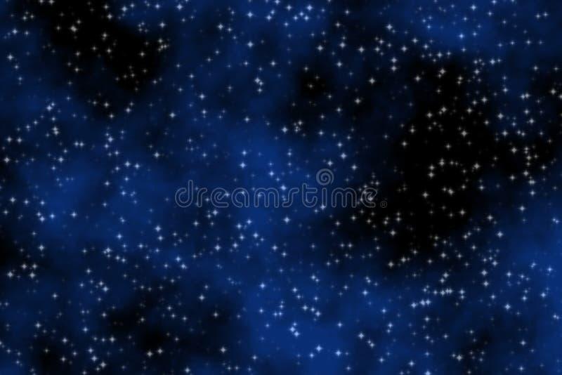 蓝色梦想的天空 库存例证