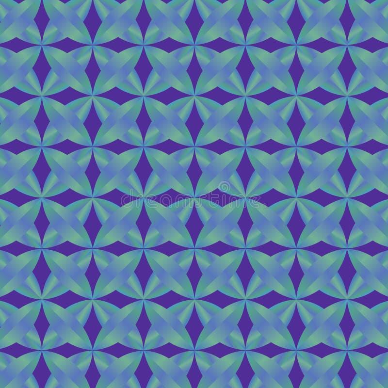 蓝色梯度几何样式和背景 向量例证