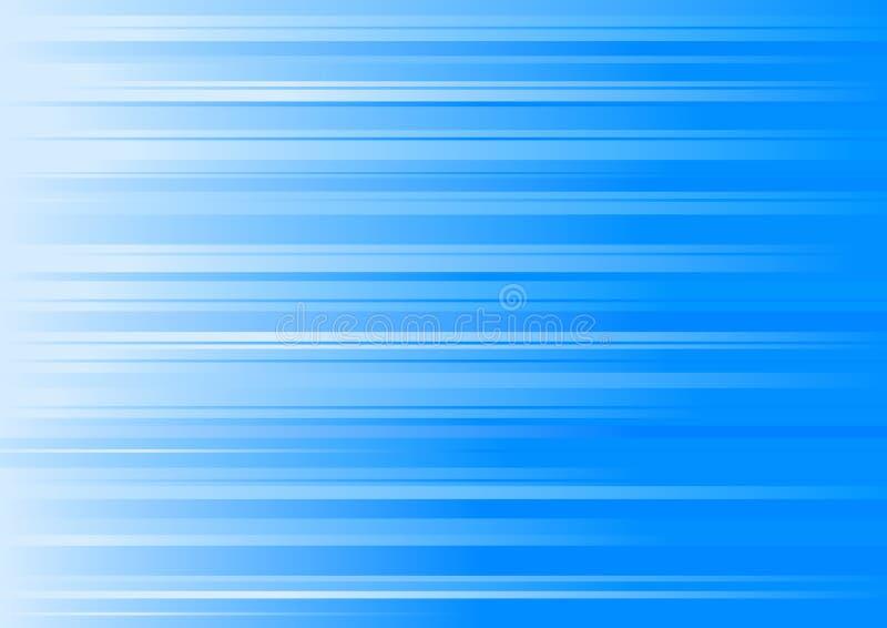 蓝色梯度线路 向量例证