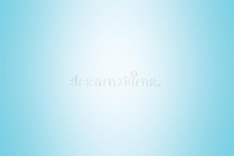蓝色梯度背景颜色柔光,美丽梯度蓝色软的明亮的墙纸,蓝色图片梯度颜色软的迷离 库存例证