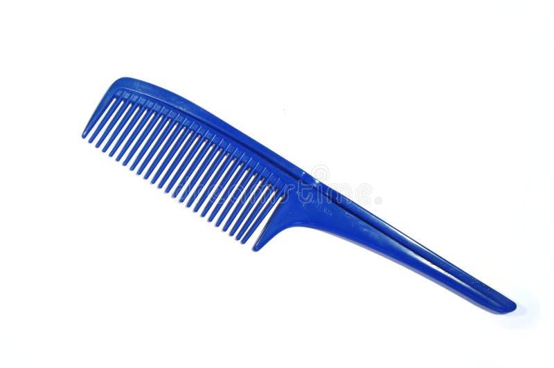 蓝色梳子头发 免版税库存照片